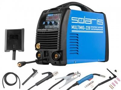 Сварочный полуавтомат Solaris MULTIMIG-228 (MIG-MMA-TIG)