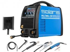Сварочный полуавтомат Solaris MULTIMIG-228W2 (MIG-MMA-TIG)